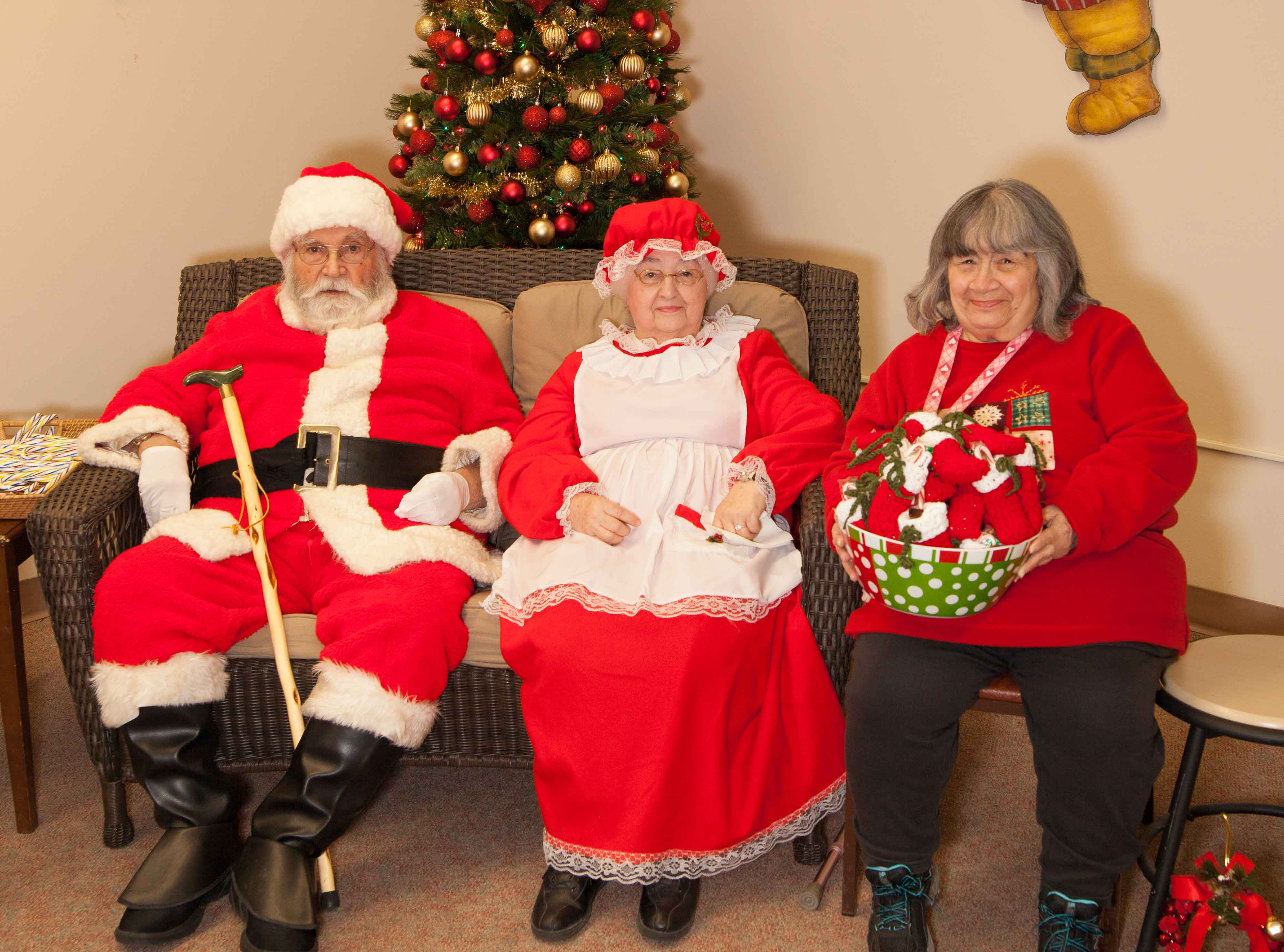 Santa, Mrs. Claus and Ramona